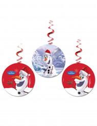 3 Olaf™ Weihnachts Deko-Aufhänger