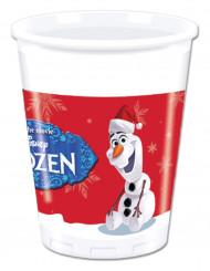 8 Olaf™ Weihnachts Plastikbecher