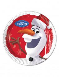 8 Olaf™ Weihnachts Teller - Die Eiskönigin™
