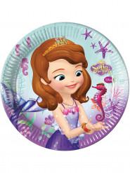 8 Pappteller Sofia die Erste™ Meerjungfrau 23 cm violett-türkis