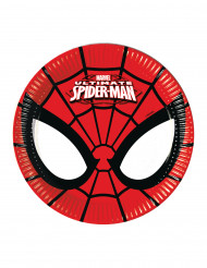 8 Ultimate Spiderman™ Pappteller - klein