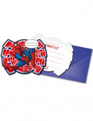 6 Ultimate Spiderman Power™ Einladungskarten mit Umschlag