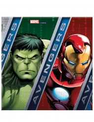 20 Avengers™ Papier Servietten Marvel™ 33x33 cm