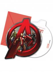6 Einladungskarten mit Umschlag Avengers-Age of Ultron™
