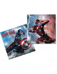 20 Captain America™ Papier Servietten