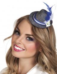 Bayrischer Mini-Hut aus Filz für Erwachsene grau-blau