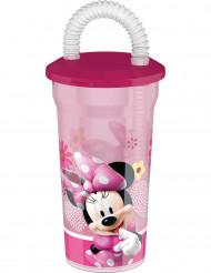 Minnie™ Trinkglas mit Strohhalm