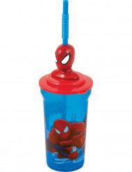 Becher mit Strohhalm Spiderman