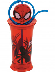 Spiderman™ Glass mit Strohhalm