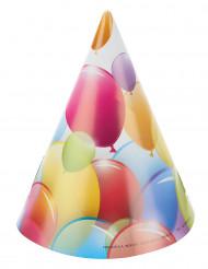 6 Partyhüte - Luftballons