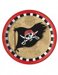 8 Pappteller - Schatzsuche Pirat