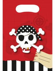 6 Piraten Geschenktüten 16,5 x 23 cm
