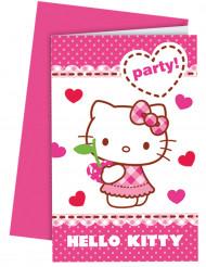 Hello Kitty™ Einladungskarten mit Umschlägen