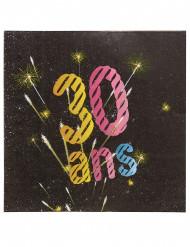 20 Papiertücher 30 Jahre mit Feuerwerk-Motiv 33 x 33 cm