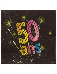20 Papierservietten für den 50. Geburtstag 33 cm