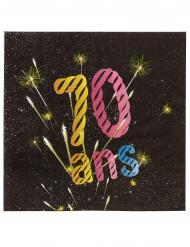 20 Papierservietten zum 70. Geburtstag 33 cm
