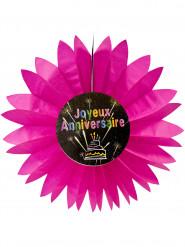 Papierdekoration zum Geburtstag mit Feuerwerkmotiv pink 50 cm