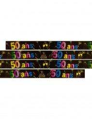 Banner zum 50. Geburtstag mit Feuerwerk-Motiv 3,60 Meter