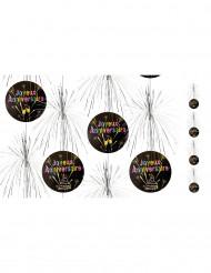 Suspension Kaskaden mit Feuerwerkmotiv zum Geburtstag 180 cm