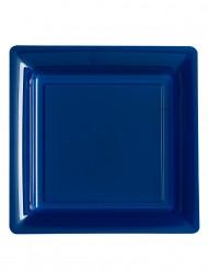12 Plastikteller - marineblau
