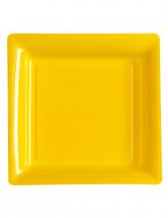 12 gelbe Teller
