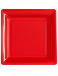 12 rote Teller