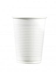 100 weiße Plastikbecher