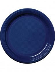 30 Plastikteller - marineblau