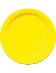 30 Plastikteller - gelb