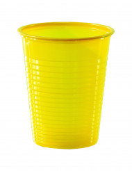 50 gelbe Plastikbecher