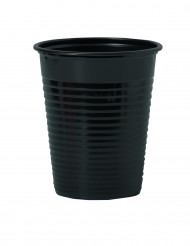50 schwarze Plastikbecher