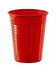 50 rote Plastikbecher