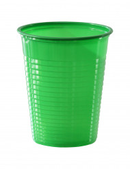 50 grüne Plastikbecher