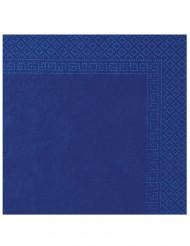 50 dunkel blaue Papier Servietten