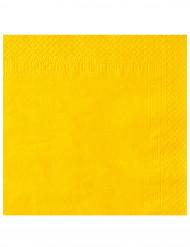 50 gelbe Papier Servietten