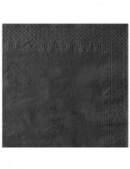 50 schwarze Papier Servietten