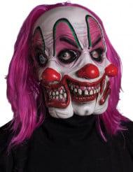 Maske Clown mit drei Gesichter