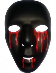 Schwarze Maske mit Blut für Herren Halloween