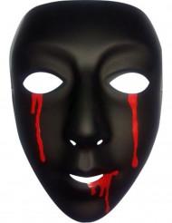 Schwarze Maske mit Blut für Damen Halloween