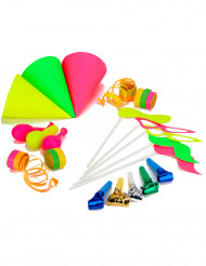 Party-Accessoires Set in Neonfarben