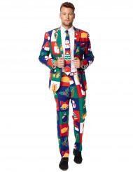 Weihnachtlicher Herrenanzug im Patchwork-Stil Opposuits™