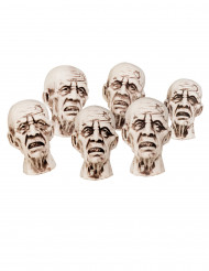 Halloween-Dekoration Zombie-Köpfe 8 x 5 cm