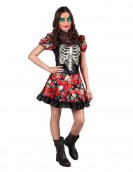 Dìa de los muertos Halloween Kostüm für Teenager