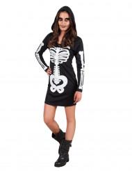 Skelett Halloween-Kostüm mit kapuze für Teenager