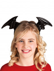 Fledermausflügel Haarreif für Kinder schwarz