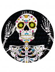 6 Pappteller Dia de los Muertos, 23 cm