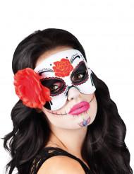 Augenmaske mit Rose Dìa de los muertos für Damen