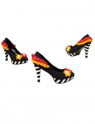 Bunte Dia de los Muertos Schuhe