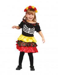 Dìa de los muertos Kostüm für Mädchen
