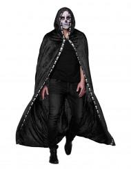 schwarzer Umhang mit Skeletten für Erwachsene